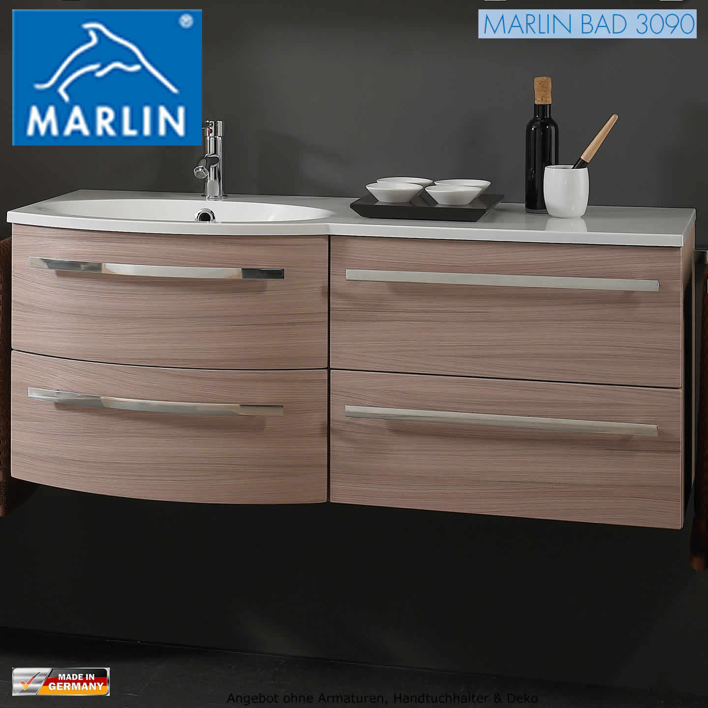 marlin 3090 cosmo 120 cm waschtisch set impulsbad. Black Bedroom Furniture Sets. Home Design Ideas