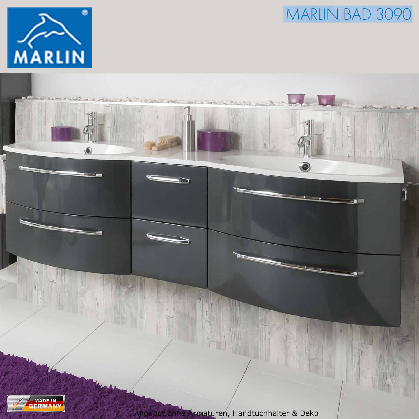 marlin 3090 cosmo waschtisch set 150 cm impulsbad. Black Bedroom Furniture Sets. Home Design Ideas