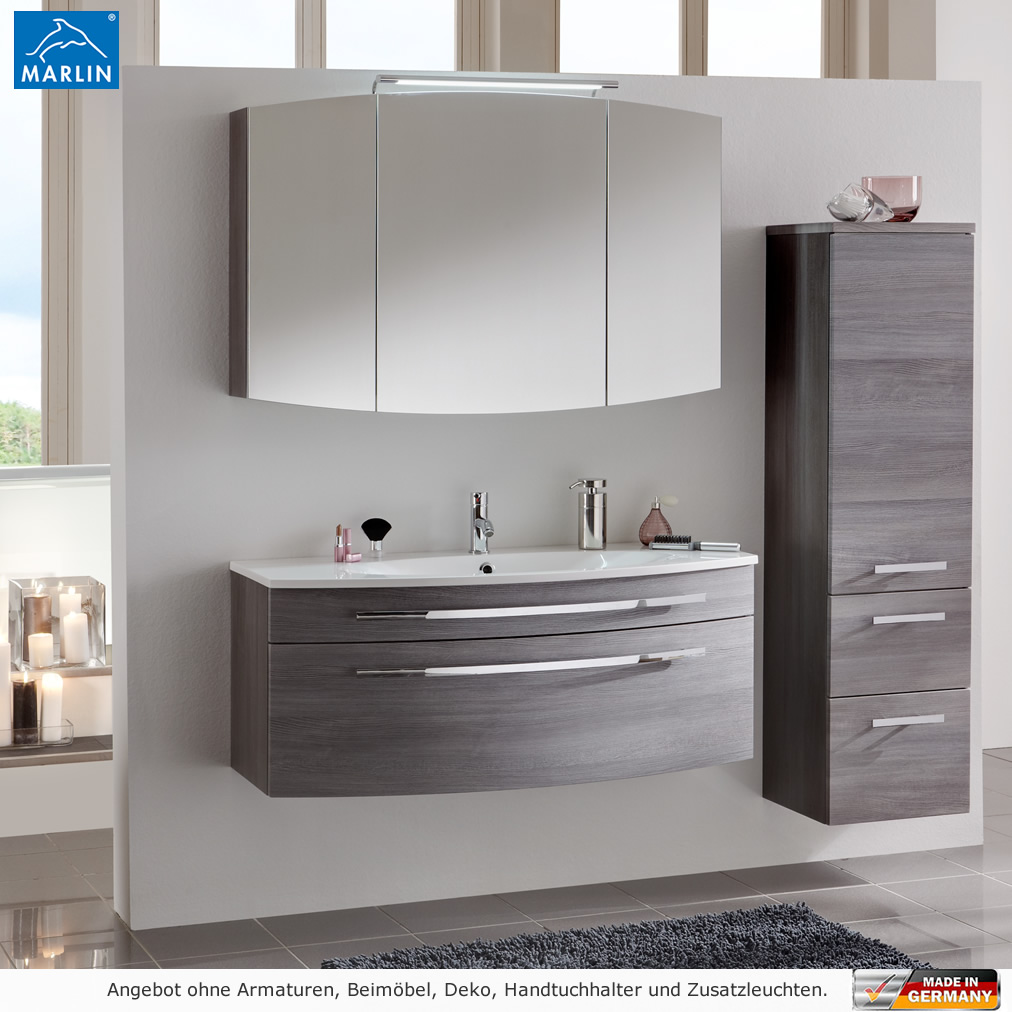 marlin badm bel als set scala mit spiegelschrank 120 cm impulsbad. Black Bedroom Furniture Sets. Home Design Ideas