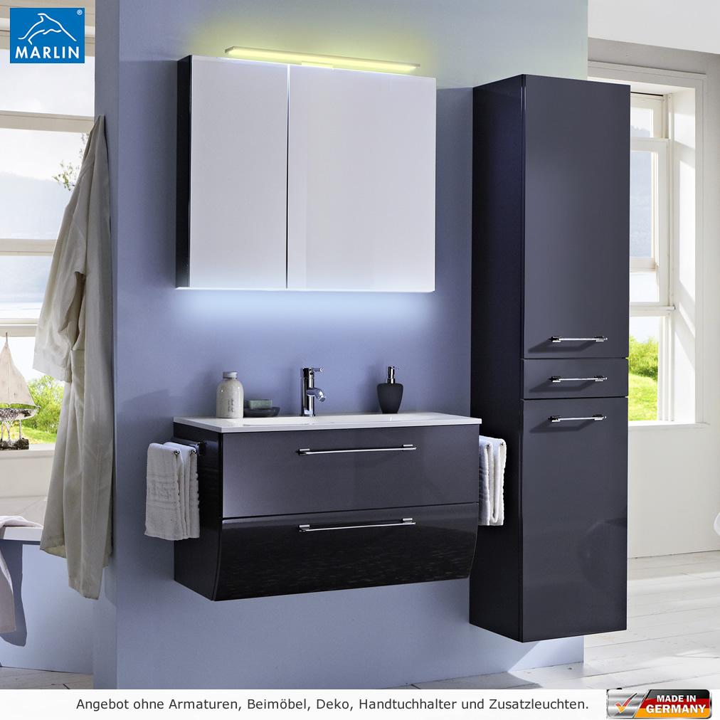 marlin badm bel als set azure mit spiegelschrank 80 cm impulsbad. Black Bedroom Furniture Sets. Home Design Ideas
