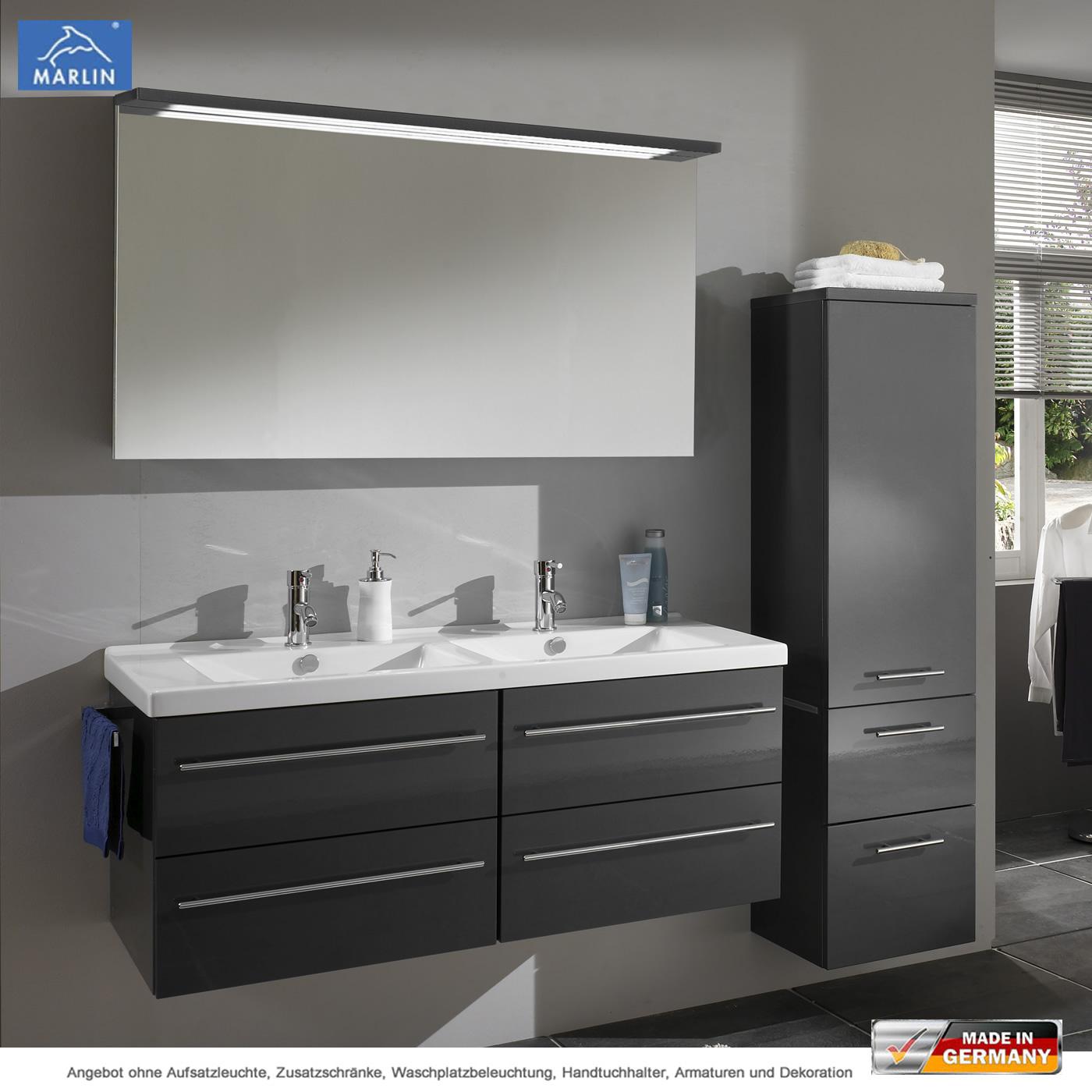 Marlin 3040 City Plus Badmobel Als Set 120 Cm Mit Spiegelpaneel Und Doppelwaschtisch Impulsbad