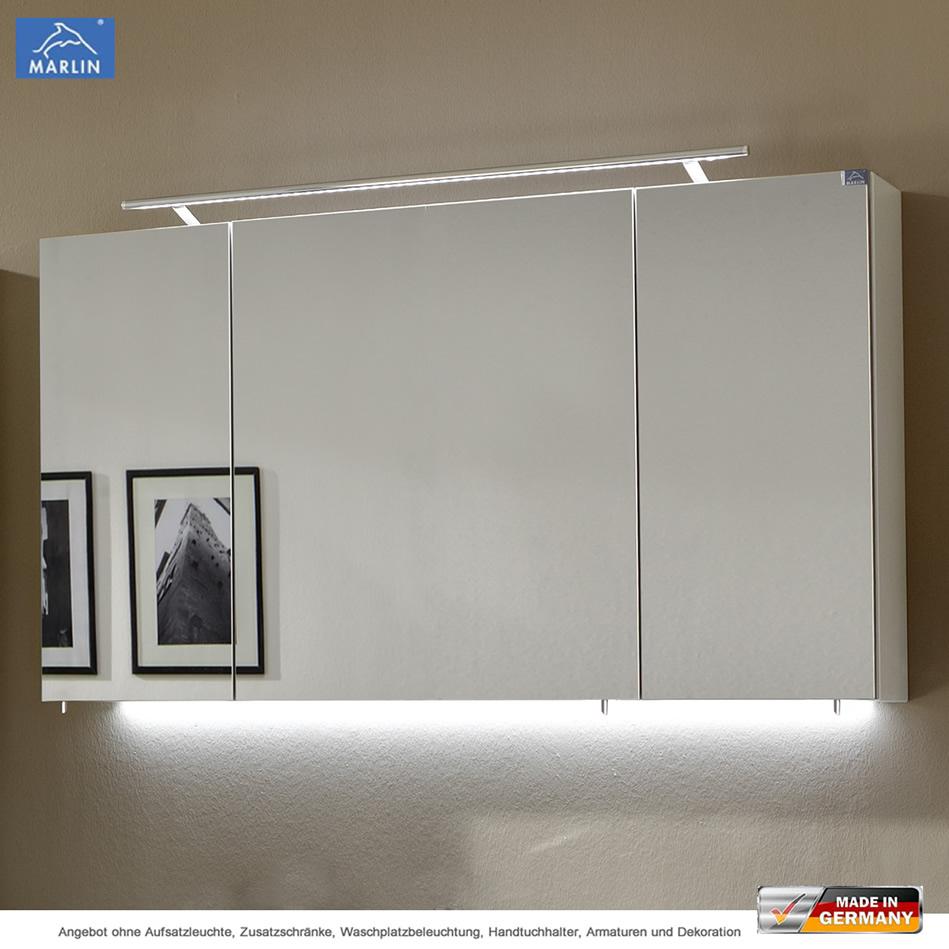 Marlin 3040 City Plus Spiegelschrank 120 cm mit 3 Türen   Impulsbad