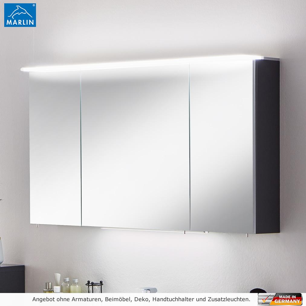 Marlin 3040 City Plus 120 cm Spiegelschrank mit Acryl Oberboden