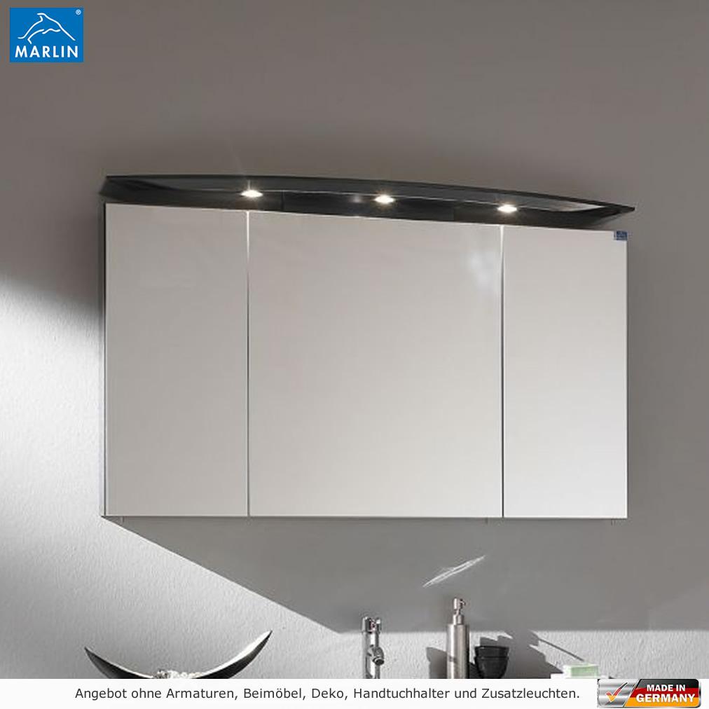 Marlin 3040 City Plus Spiegelschrank 120 cm mit LED Strahlern ...