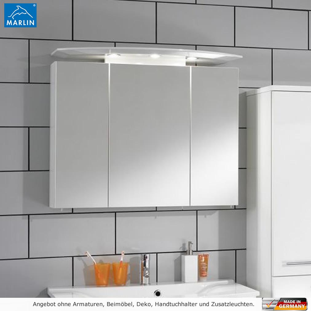 Marlin 3040 city plus spiegelschrank 90 cm mit led strahlern impulsbad - Spiegelschrank 90 cm ...