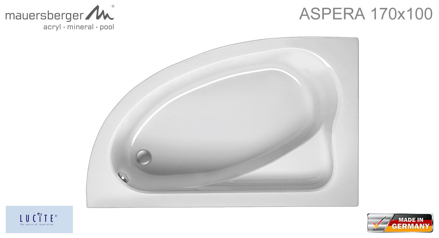 Mauersberger Badewanne Aspera 170 X 100 Cm Acryl Eck Rechts R