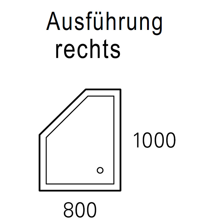 mauersberger duschwanne circi 100 x 80 cm superflach. Black Bedroom Furniture Sets. Home Design Ideas