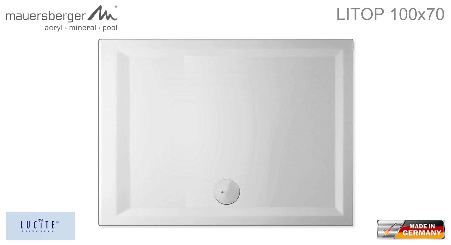 mauersberger duschwanne litop 100 x 70 cm superflach. Black Bedroom Furniture Sets. Home Design Ideas