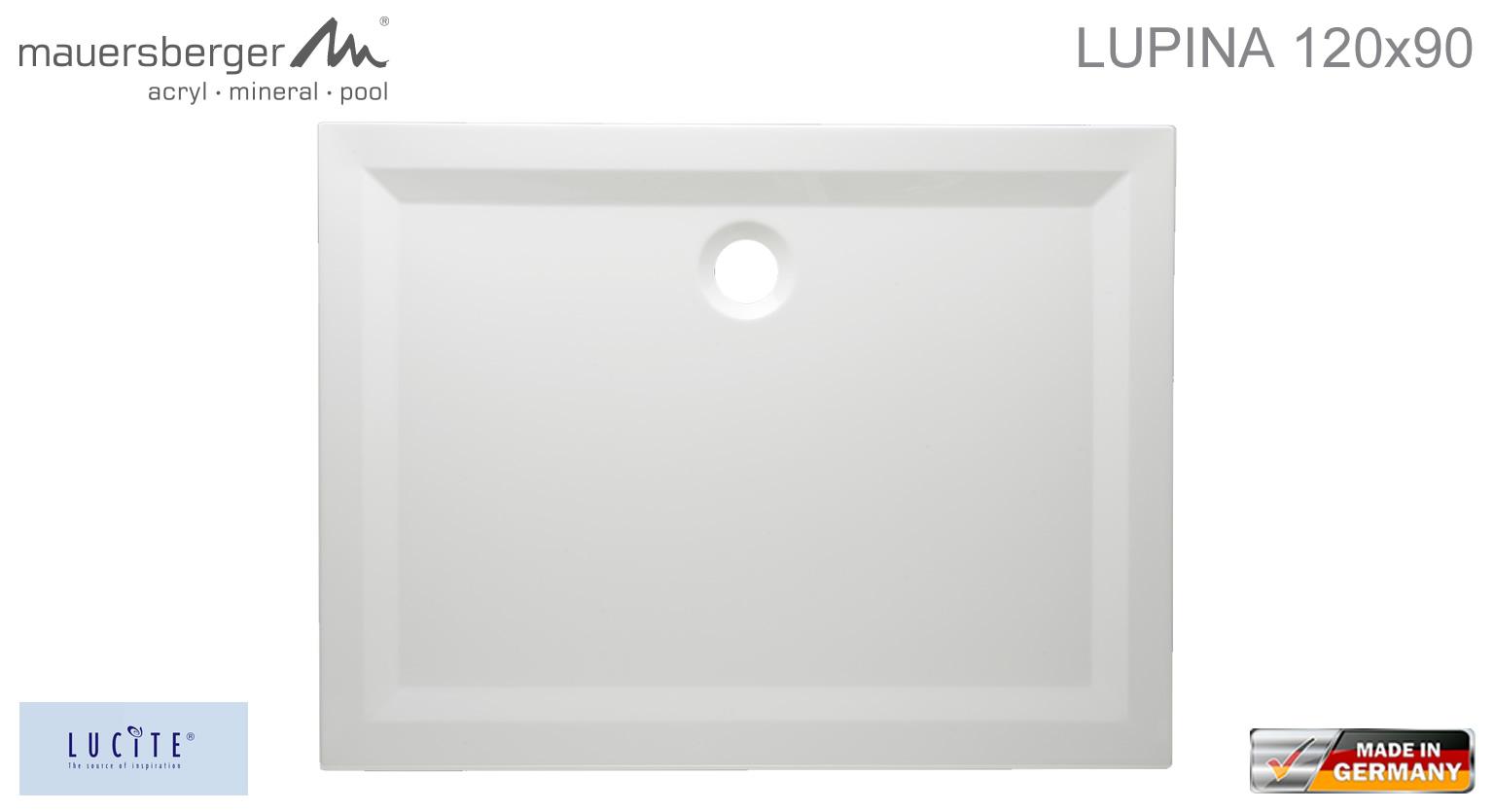 mauersberger duschwanne lupina 120 x 90 cm superflach impulsbad. Black Bedroom Furniture Sets. Home Design Ideas