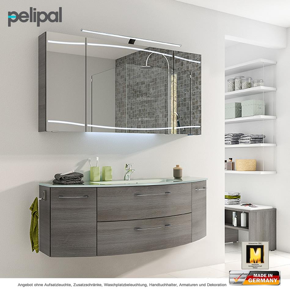 Pelipal Cassca Badmöbelset 140 cm mit Spiegelschrank und ...