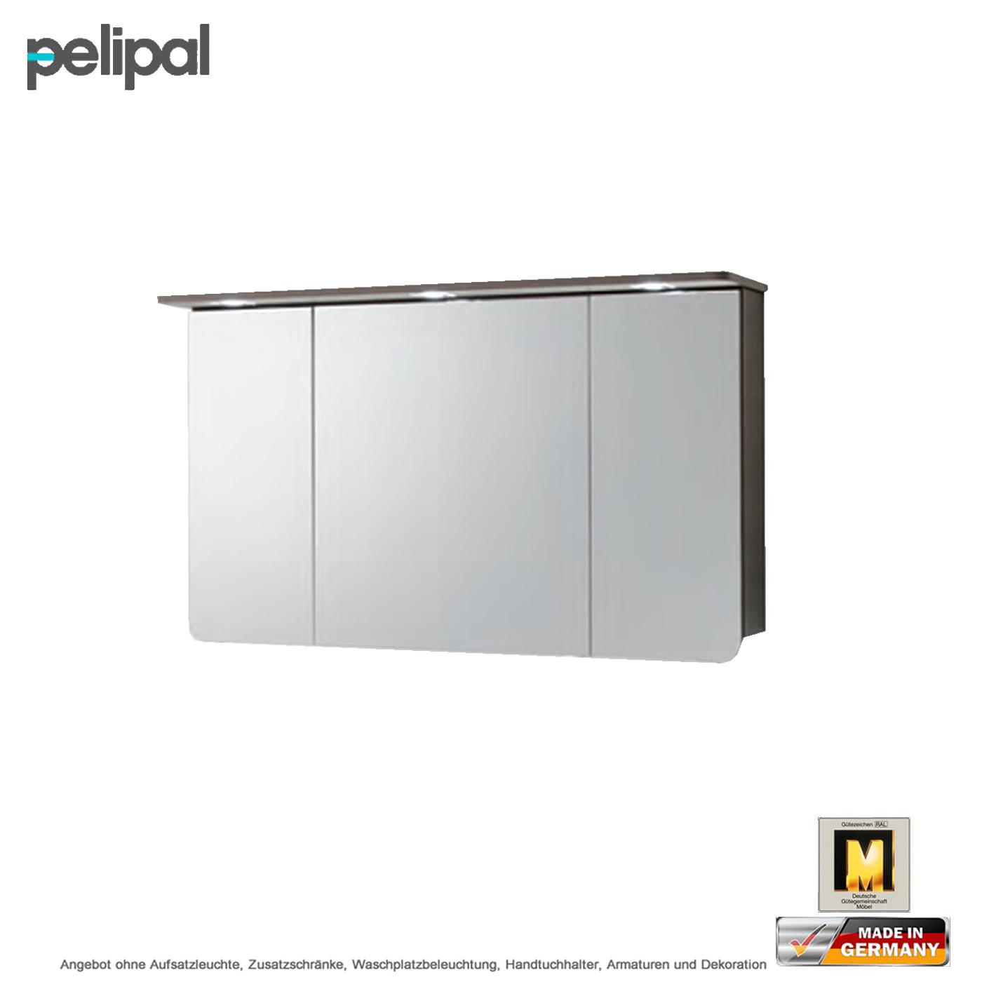 pelipal solitaire 6005 spiegelschrank 120 cm mit led kranz beleuchtung impulsbad. Black Bedroom Furniture Sets. Home Design Ideas
