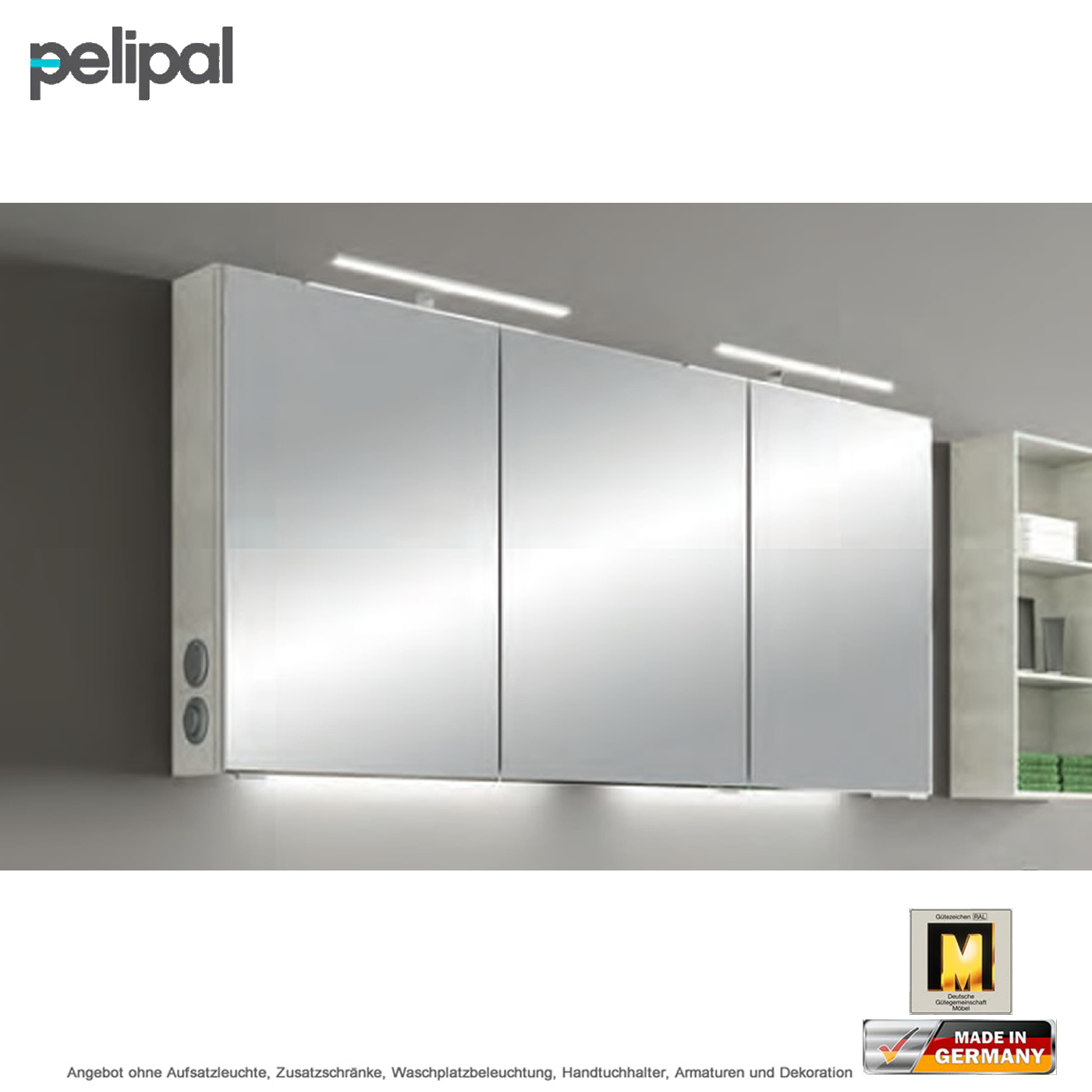 pelipal solitaire 6005 spiegelschrank 140 cm inklusive led. Black Bedroom Furniture Sets. Home Design Ideas