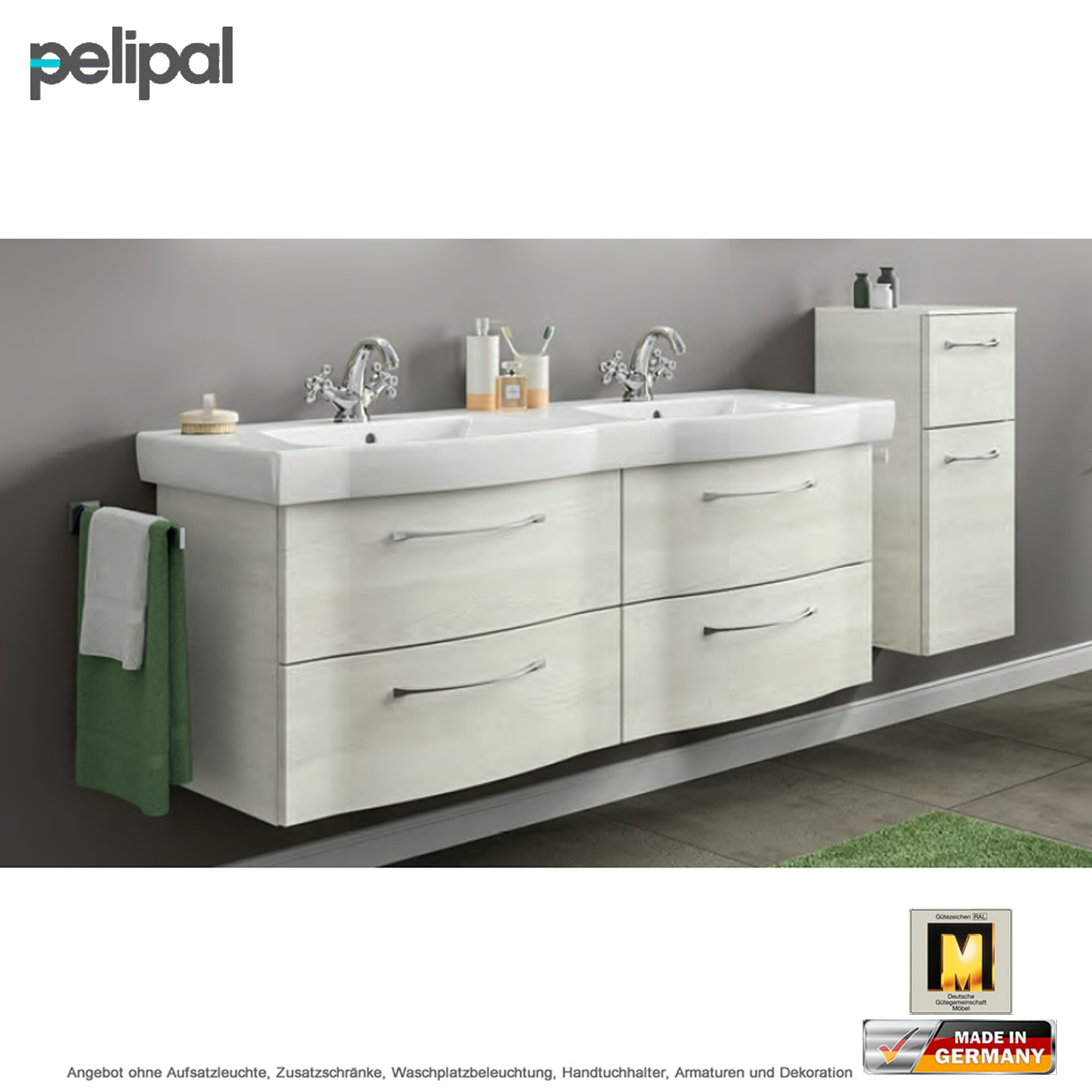 pelipal solitaire 6005 waschtischset 140 cm mit. Black Bedroom Furniture Sets. Home Design Ideas