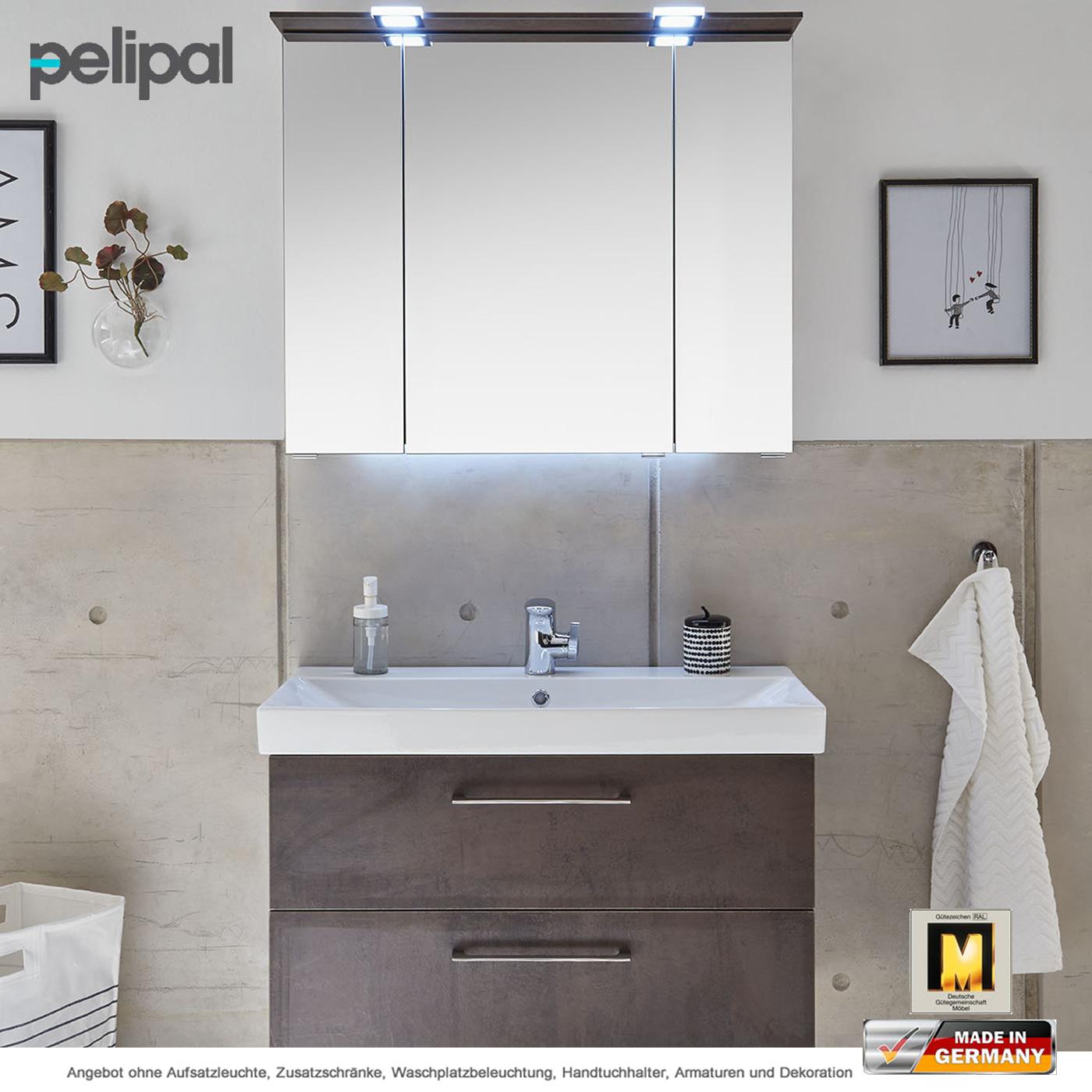 Pelipal Solitaire 6910 Badm Bel Set Mit Keramik Waschtisch