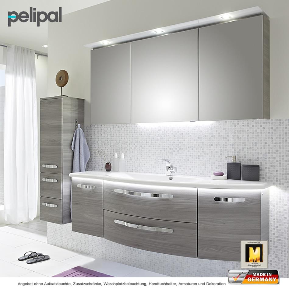 Pelipal Badmöbel als Set Solitaire 7005 mit Spiegelschrank und ...