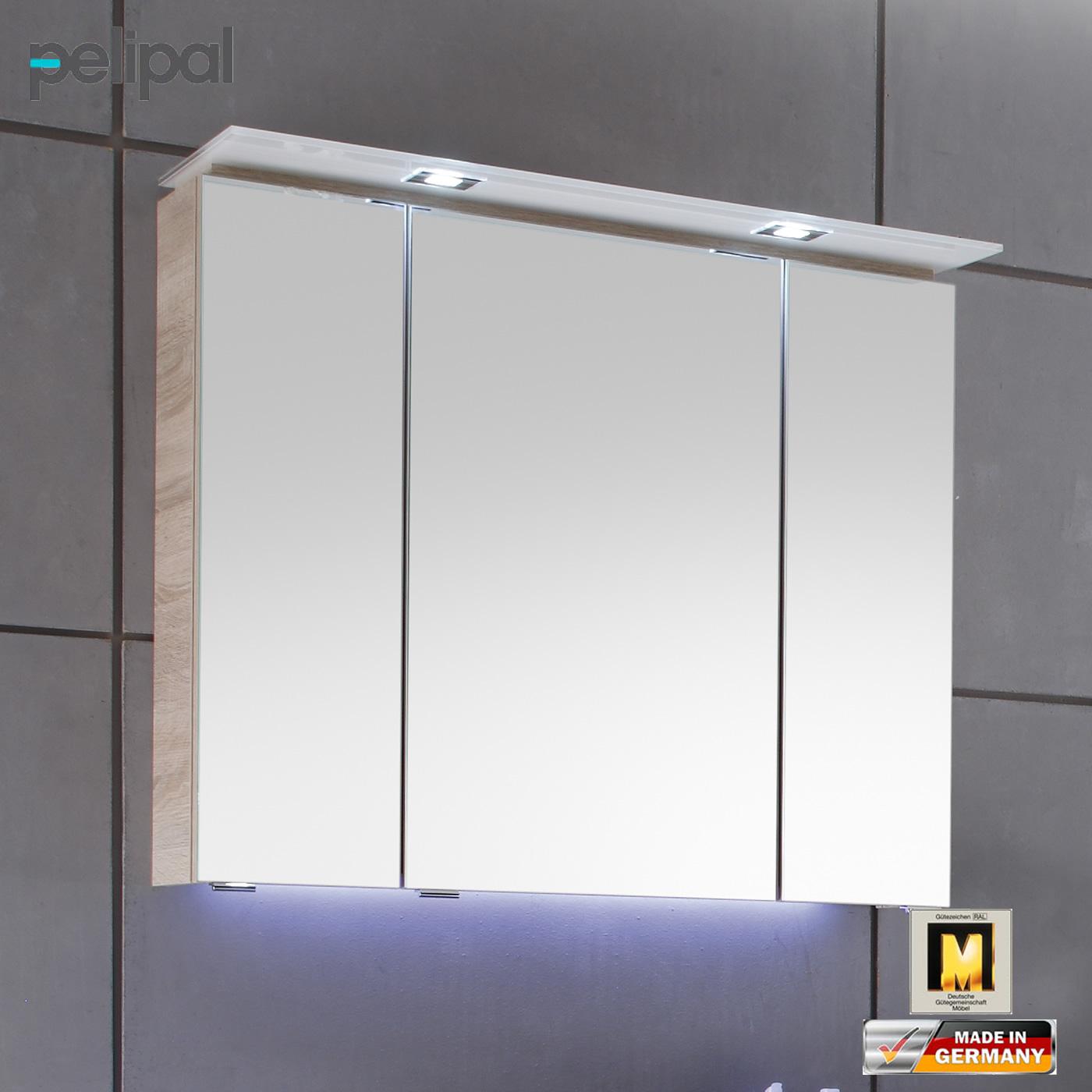 Pelipal solitaire 7005 spiegelschrank mit kranzbeleuchtung for Bad spiegelschrank 80 cm breit