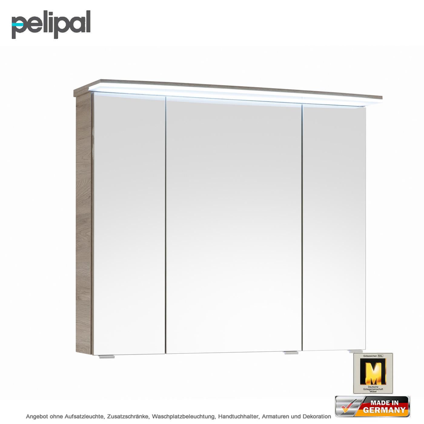 pelipal solitaire 7005 spiegelschrank mit lichtkranz 80 cm. Black Bedroom Furniture Sets. Home Design Ideas