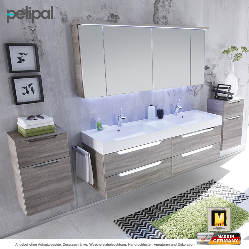 pelipal badm bel als set solitaire 7020 doppelwaschtischset mit spiegelschrank 170 cm impulsbad. Black Bedroom Furniture Sets. Home Design Ideas