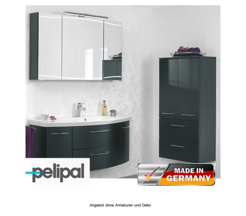 pelipal badm bel als set cassca mit led beleuchtung und midischrank 120 cm impulsbad. Black Bedroom Furniture Sets. Home Design Ideas