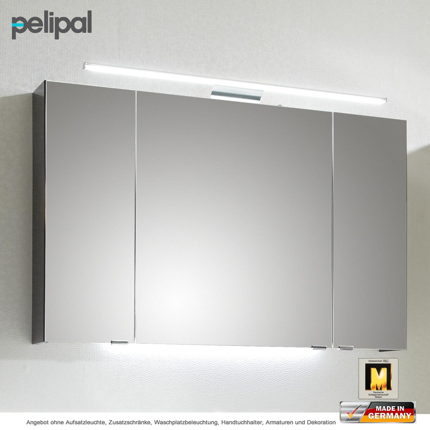 Pelipal lunic spiegelschrank 110 cm mit doppelt verspiegelten t ren impulsbad - Spiegelschrank 110 cm ...