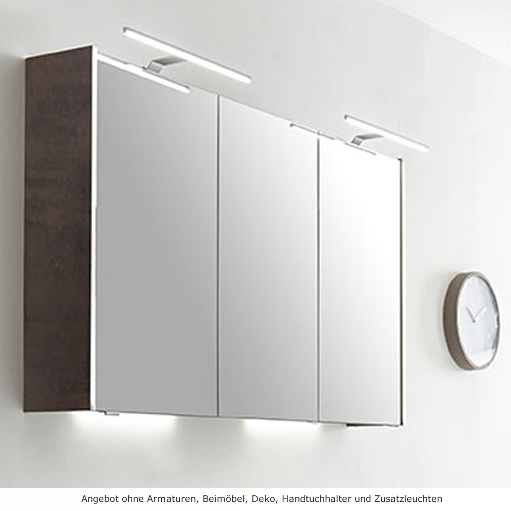 Pelipal 6040 Solitaire Spiegelschrank 120 cm mit LED Lichtprofil ...