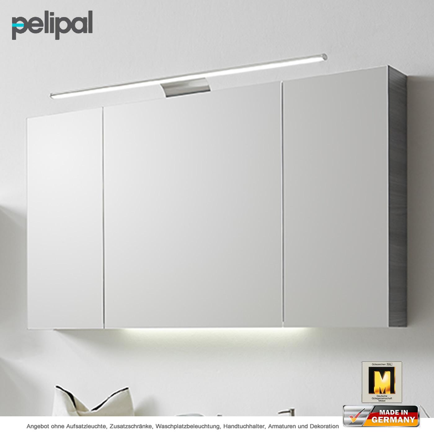 Pelipal Solitaire 6025 Spiegelschrank mit Aufsatzleuchte 115 cm ...
