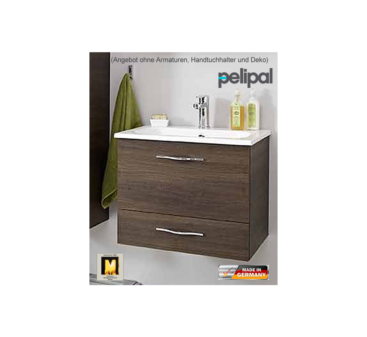 pelipal solitaire 6110 waschtisch set 60 cm impulsbad. Black Bedroom Furniture Sets. Home Design Ideas