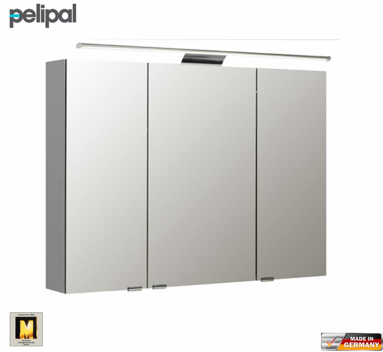 pelipal neutraler spiegelschrank s5 100 cm mit led aufbauleuchte impulsbad. Black Bedroom Furniture Sets. Home Design Ideas