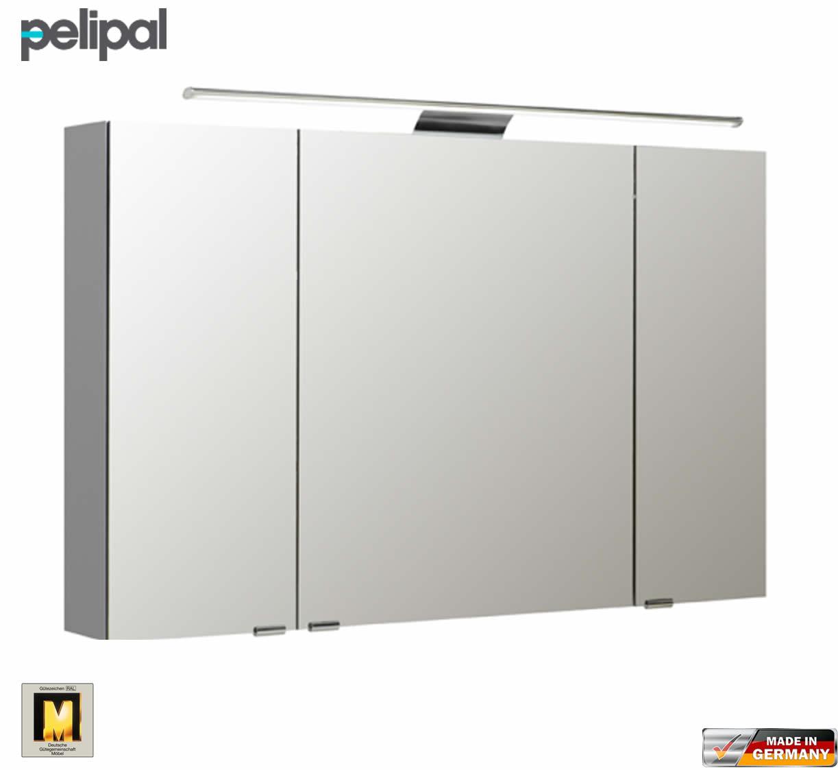 Pelipal neutraler spiegelschrank s5 110 cm mit led for Spiegelschrank 110 cm breit