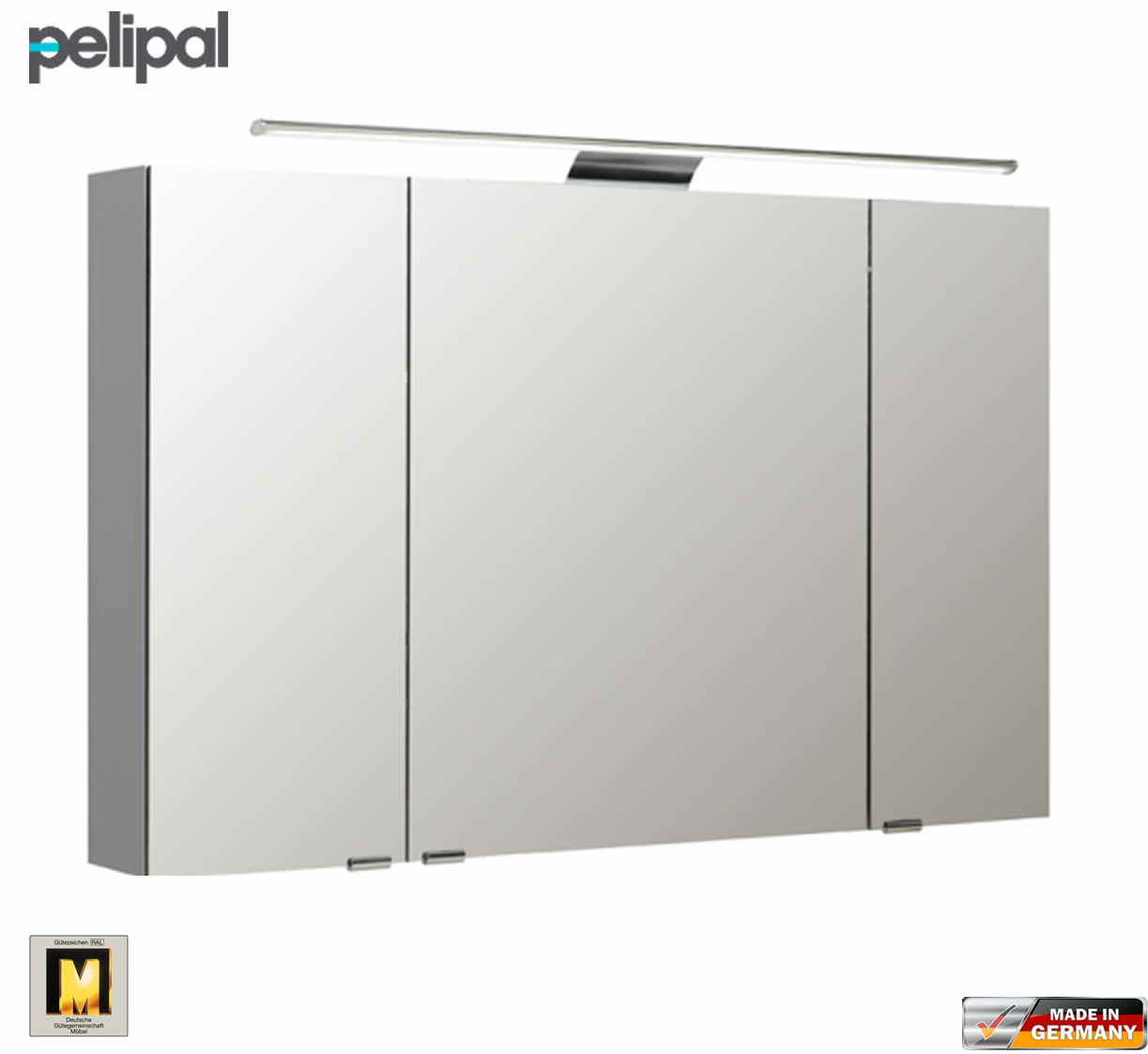 pelipal neutraler spiegelschrank s5 110 cm mit led aufbauleuchte impulsbad. Black Bedroom Furniture Sets. Home Design Ideas