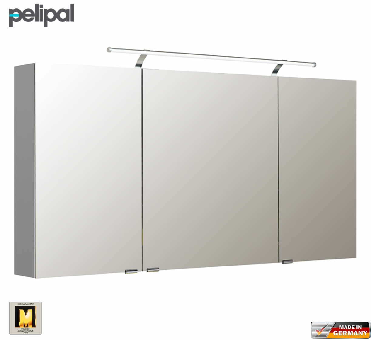 pelipal neutraler spiegelschrank s5 140 cm mit led aufbauleuchte impulsbad. Black Bedroom Furniture Sets. Home Design Ideas
