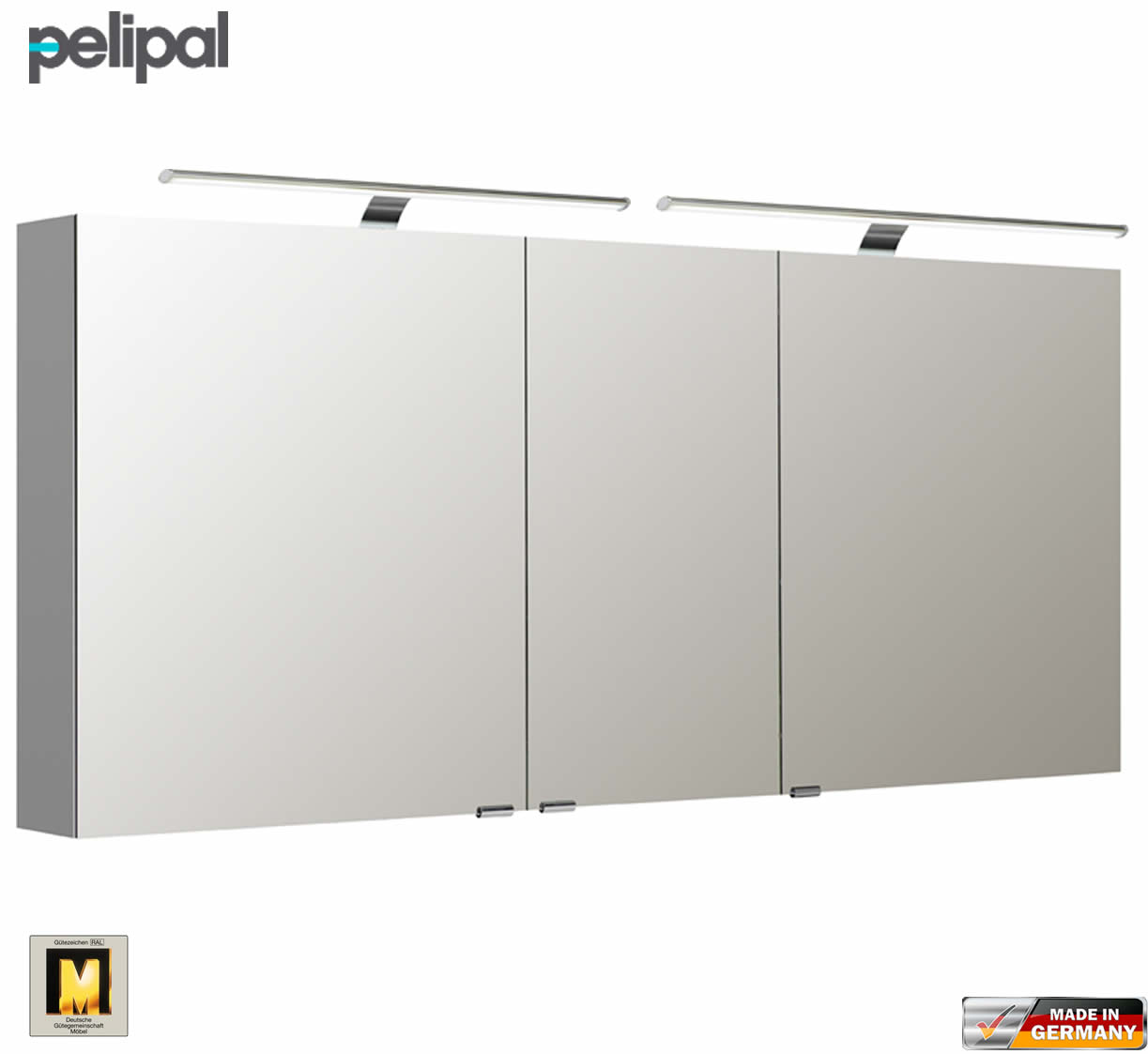 pelipal neutraler spiegelschrank s5 160 cm mit 2 led aufbauleuchten impulsbad. Black Bedroom Furniture Sets. Home Design Ideas