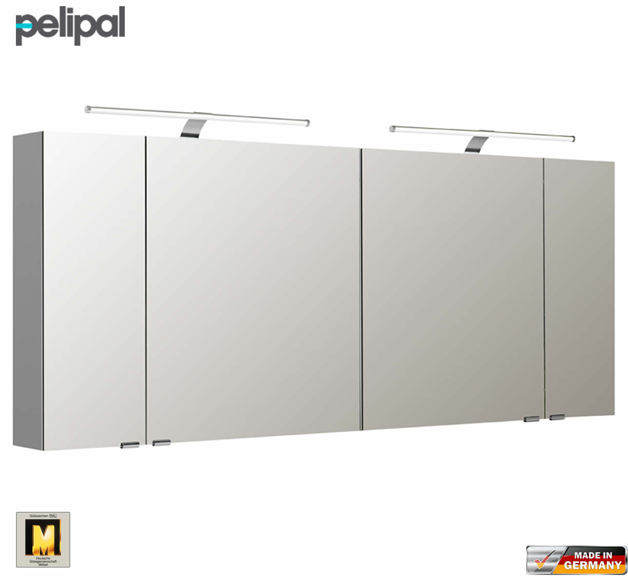 pelipal neutraler spiegelschrank s5 170 cm mit 2 led aufbauleuchten impulsbad. Black Bedroom Furniture Sets. Home Design Ideas