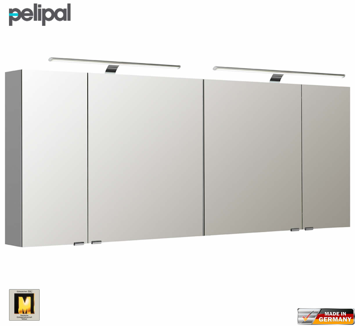 pelipal neutraler spiegelschrank s5 180 cm mit 2 led aufbauleuchten impulsbad. Black Bedroom Furniture Sets. Home Design Ideas