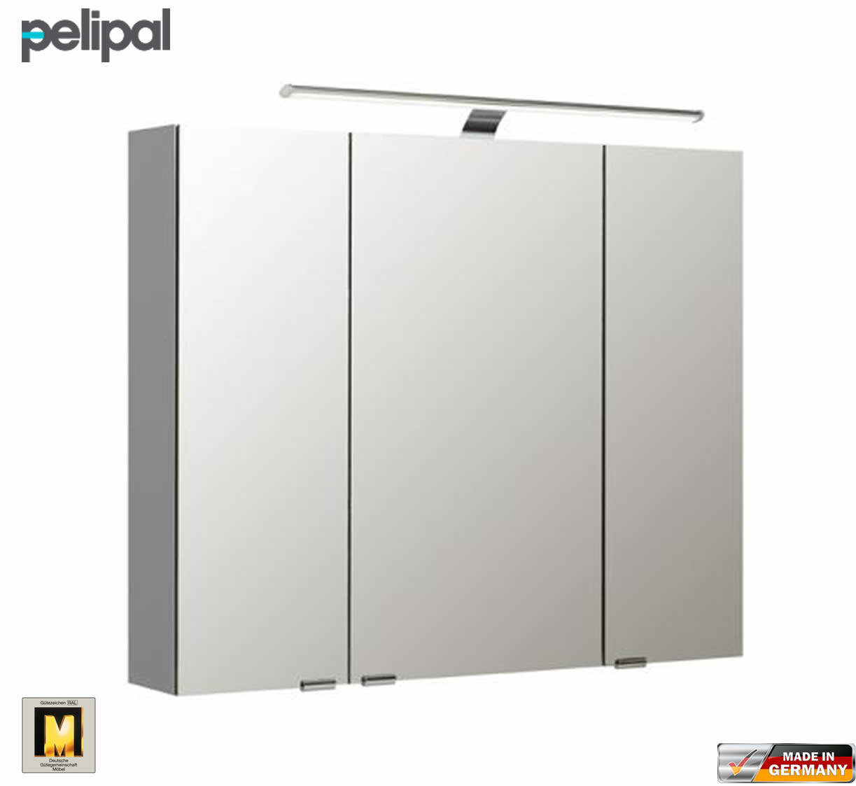 pelipal neutraler spiegelschrank s5 90 cm mit led aufbauleuchte impulsbad. Black Bedroom Furniture Sets. Home Design Ideas