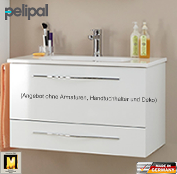 pelipal solitaire 6110 waschtisch set 80 cm impulsbad. Black Bedroom Furniture Sets. Home Design Ideas