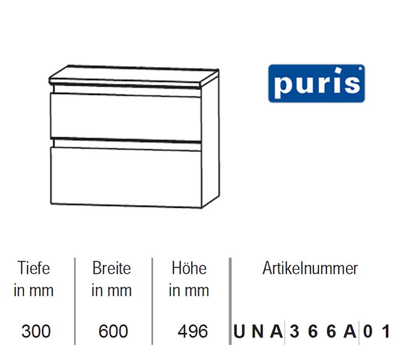 puris ace unterschrank mit ausz gen 60 cm impulsbad. Black Bedroom Furniture Sets. Home Design Ideas