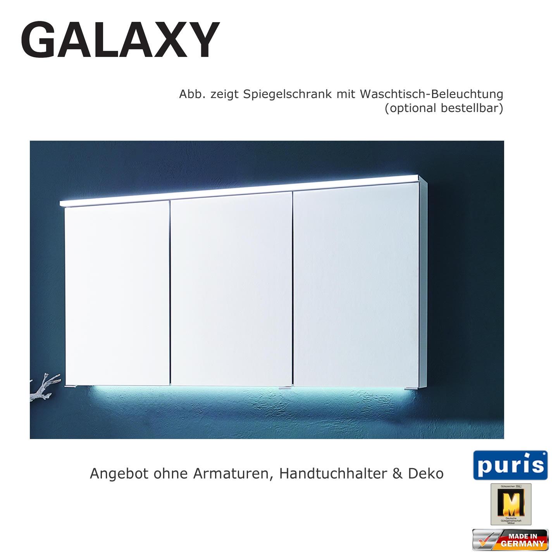 Puris Galaxy Spiegelschrank 120 cm | Impulsbad