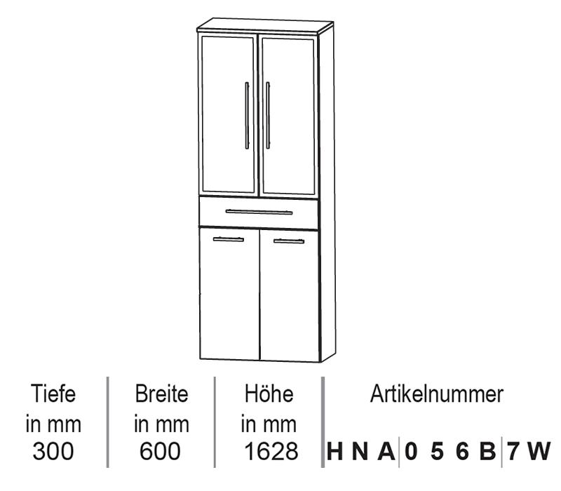 Puris Star Line Hochschrank Mit Wäschekippe 60 Cm