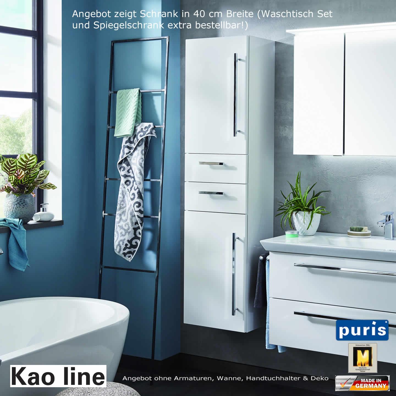 puris kao line hochschrank 30 cm oder 40 cm breit impulsbad. Black Bedroom Furniture Sets. Home Design Ideas