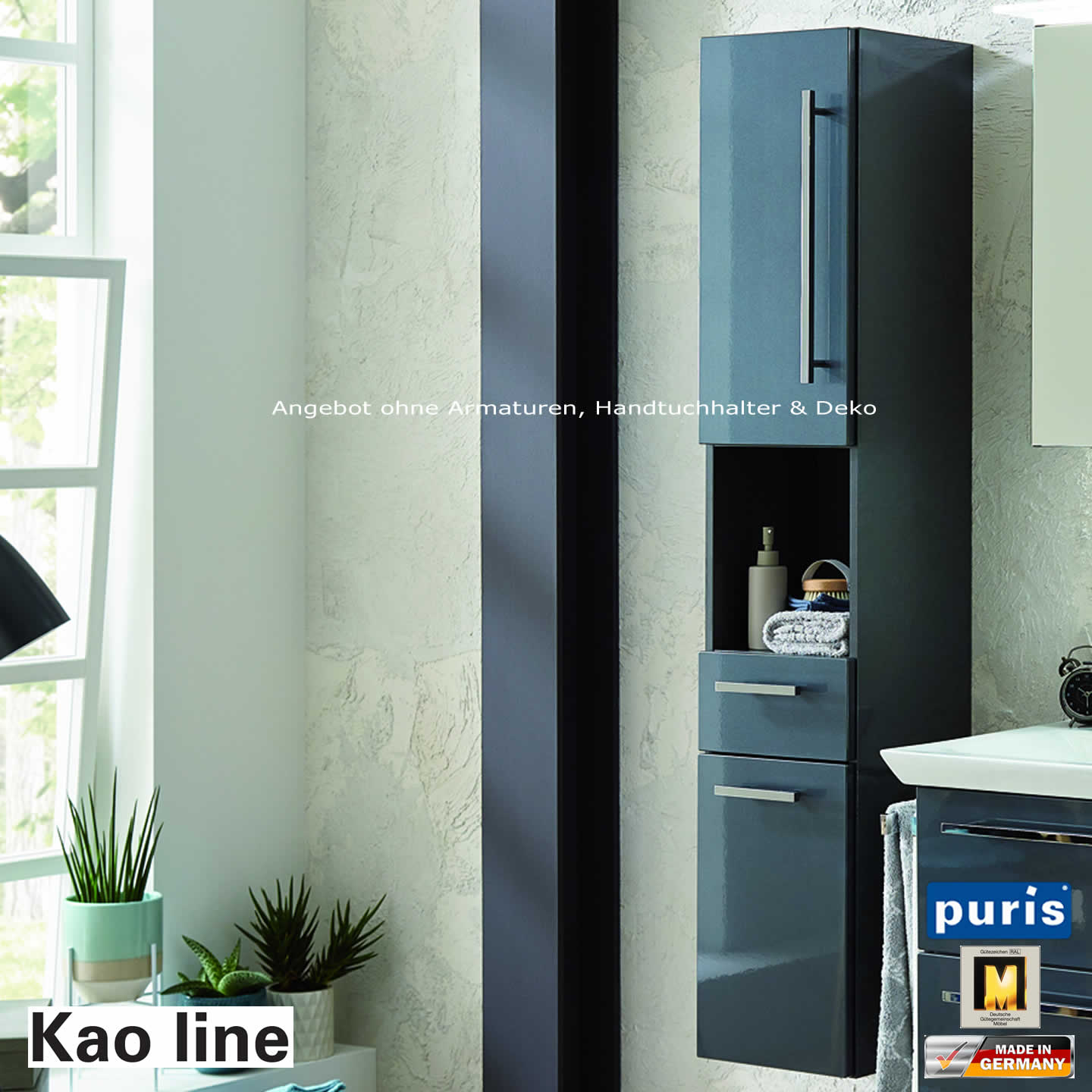 puris kao line hochschrank 30 cm oder 40 cm breit impulsbad. Black Bedroom Furniture Sets. Home Design Ideas