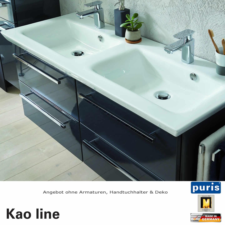 puris kao line waschtisch set 120 cm 4 ausz gen impulsbad. Black Bedroom Furniture Sets. Home Design Ideas