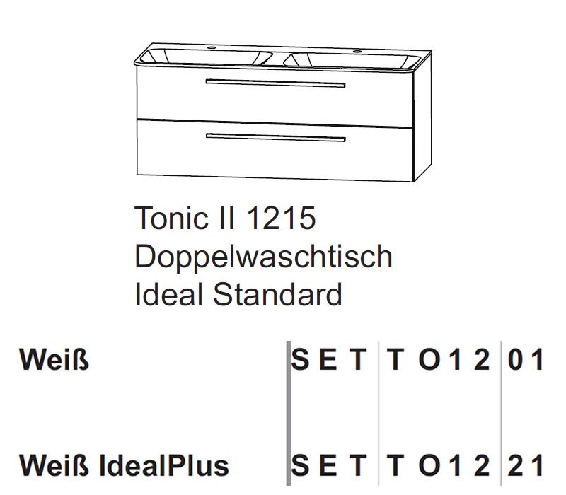 puris kera trends set doppelwaschtisch unterschrank mit ideal standard keramik 120 cm impulsbad. Black Bedroom Furniture Sets. Home Design Ideas