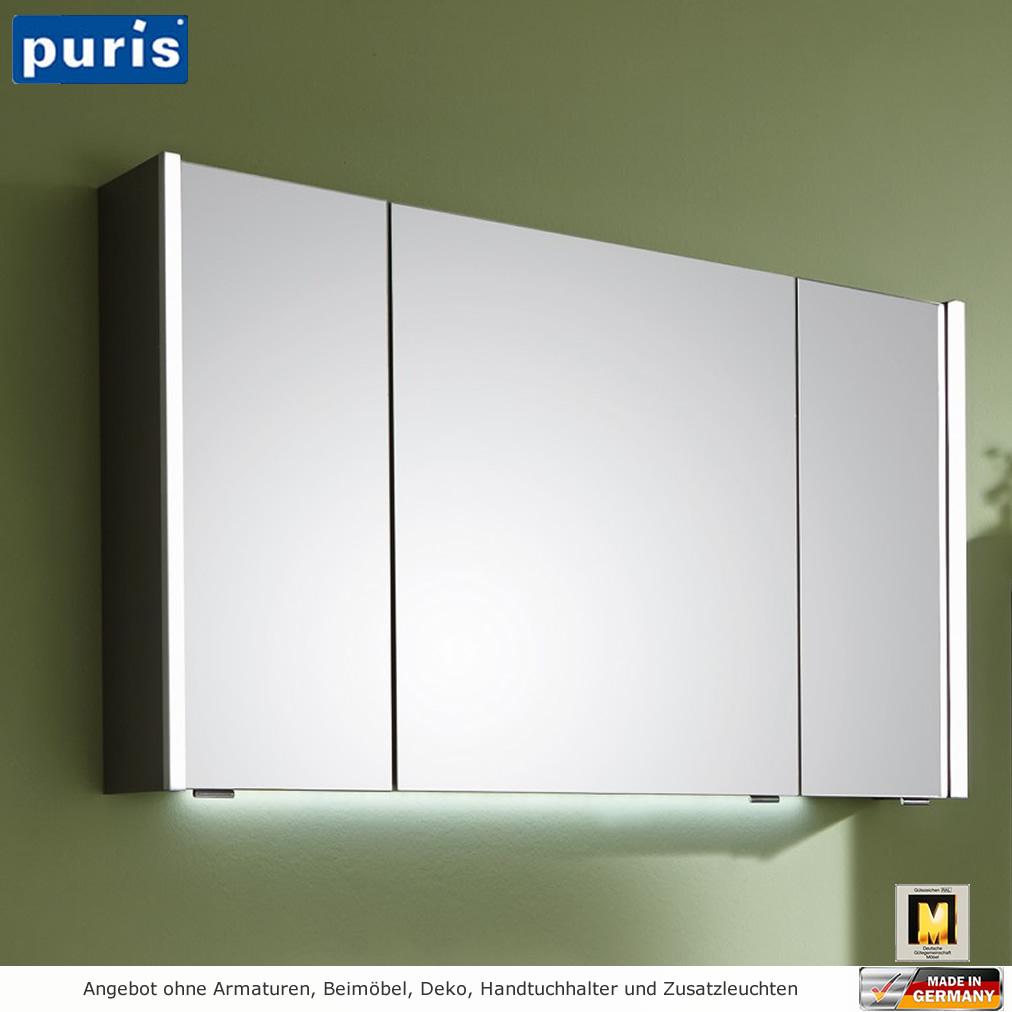 Puris Linea Spiegelschrank 100 Cm Mit Seitlichen Led Profilen