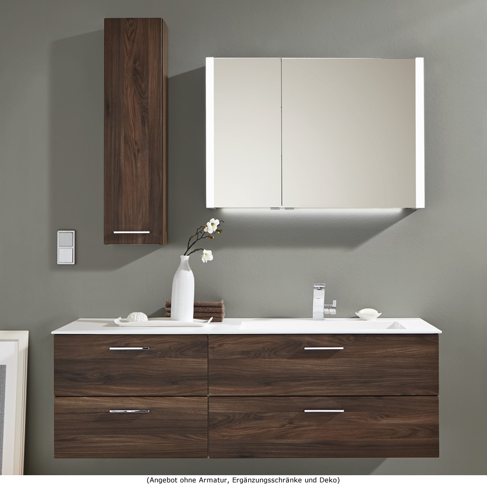 puris milano badm bel als set mit stoneplus waschtisch und oberschrank 150 cm impulsbad. Black Bedroom Furniture Sets. Home Design Ideas