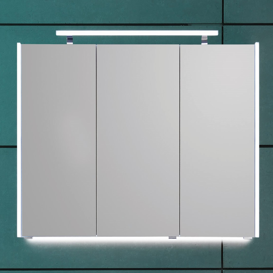 Relativ Puris QUADA Spiegelschrank 100 cm mit seitlichen LED PK09