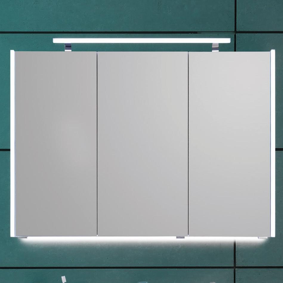 Puris Quada Spiegelschrank 120 Cm Mit Seitlichen Led Beleuchtungsprofilen Serie C S2a531203