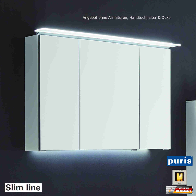puris slim line spiegelschrank 90 cm impulsbad. Black Bedroom Furniture Sets. Home Design Ideas