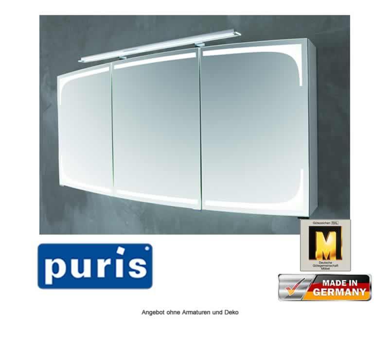 puris classic line spiegelschrank 140 cm impulsbad. Black Bedroom Furniture Sets. Home Design Ideas