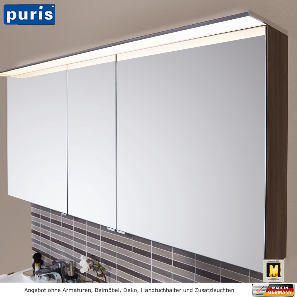 puris star line spiegelschrank 140 cm impulsbad. Black Bedroom Furniture Sets. Home Design Ideas